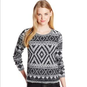 Lucky Brand Jacquard Pullover Sweater Size L